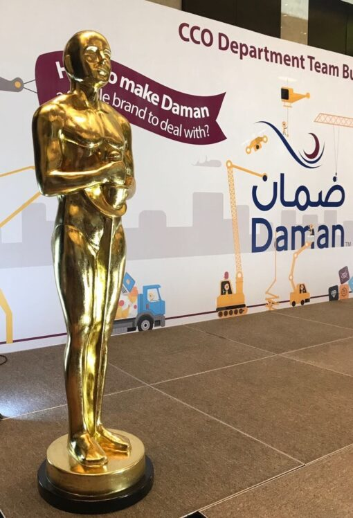 Oscar Statue in an Event