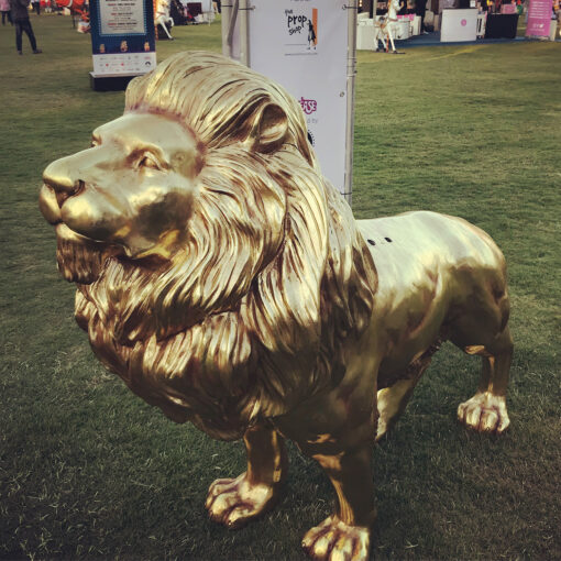 Gold Lion With Wings outdoor events