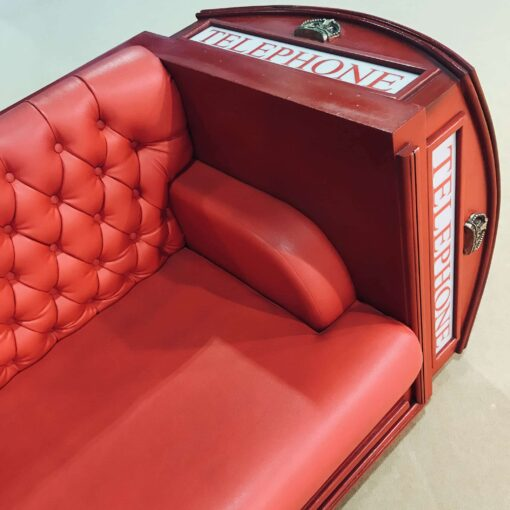 Best Of British Telephone Booth Sofa Props Side Angle