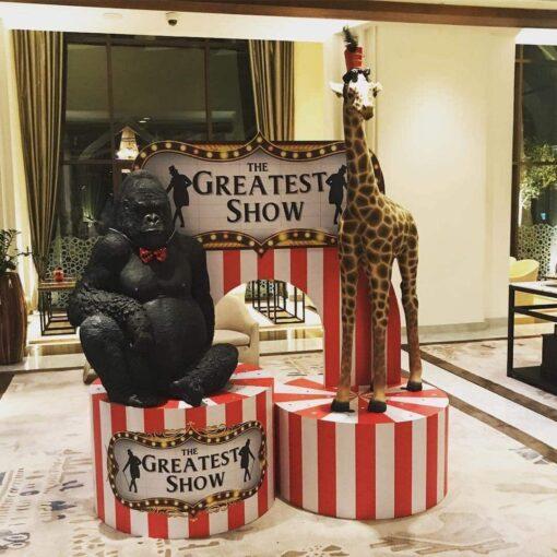 Safari Circus Giraffe Gorilla Props